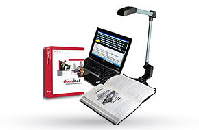 OpenBook and PEARL portable scanning and reading solution with laptop.