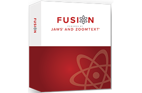 ZoomText Fusion product box.
