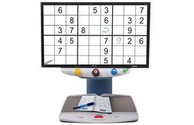TOPAZ EZ magnifying a Sudoku game. Clicking the thumbnail shows the larger image.