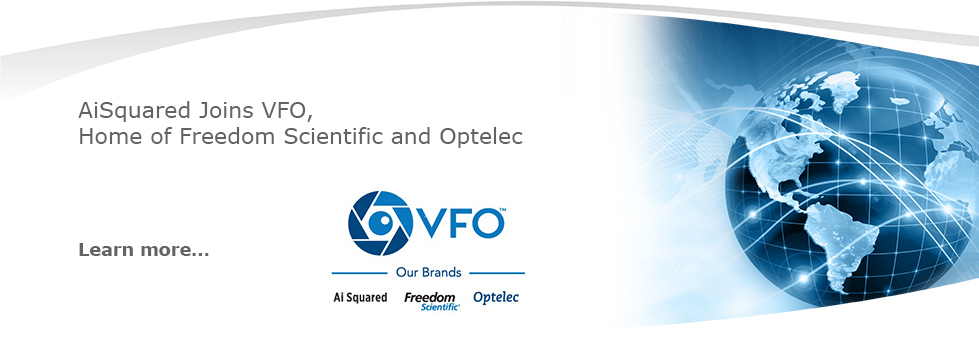 Ai Squared joins VFO, home of Freedom Scientific and Optelec.