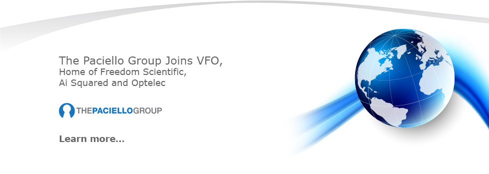The Paciello Group joins VFO, home of Freedom Scientific, Optelec, and AI Squaired.
