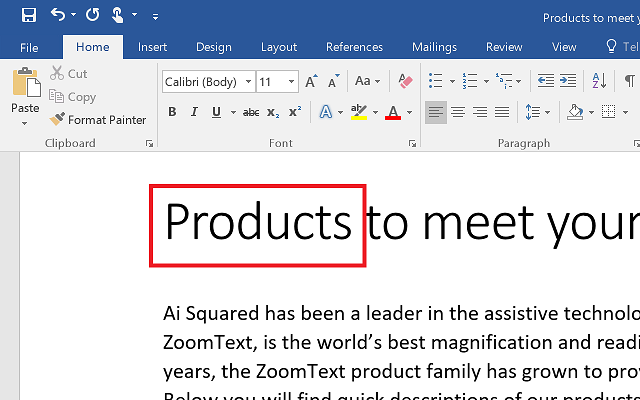 Using AppReader in Microsoft Word
