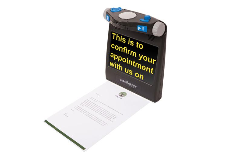 omniReader scanning a letter