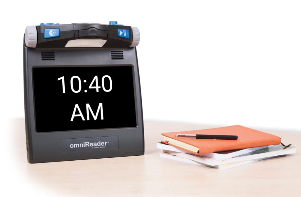 omniReader® displaying time