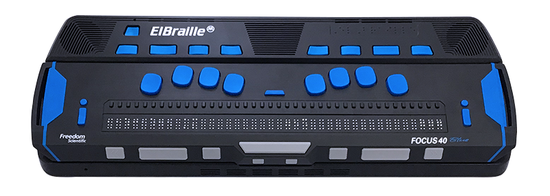 Image of an ElBraille 40 5th Generation device.